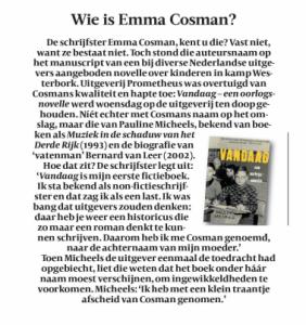 Volkskrant Boeken (15 feb. 2014)